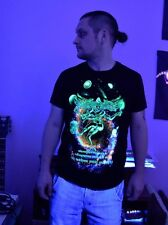 Lord Shiva Tshirt Glow UV Blacklight Psychedelic Om Ohm Aum Mantra Yoga Goa