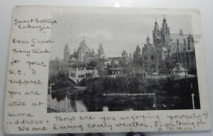 Glasgow Exhibition From North West undivided back 1901 Ballinluig postmark .