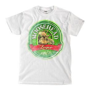 Moosehead Lager Custom Mens Fashion T-Shirt Tee S-3XL New-Black