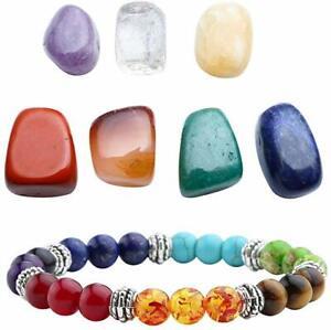 7 Chakra Reiki Healing Crystals Yoga Balance Anxiety Stress Relief Bracelets
