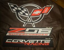 """Corvette Racing Team SUPERCHARGED Z06 Iron-on Logo for RACING JACKET 16"""" item #2"""