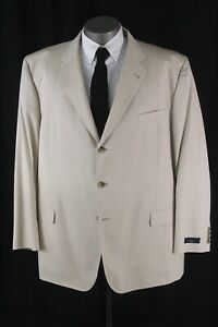 NEW cream BROOKS BROTHERS unstructured regent 1818 blazer jacket cotton 54 L