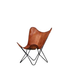 Brown Vintage Handmade Classic Cover Cowhide Leather Butterfly Chair Only Cover