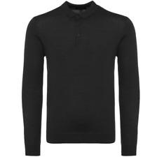 Matinique Klint lana manga larga Polo/Negro-Medio SRP £ 89.95