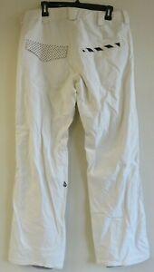 Volcom Nimbus White Nylon Snow Pants Womens Size Medium Snowboard Ski Winter