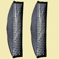 2PCS Godox 35x160cm Honeycomb Grid Softbox Bowens Mount for Studio Strobe Light