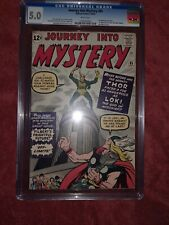 Journey into Mystery 85 CGC 5.0 WHITE Pages Old Label Not Pressed 1st Loki