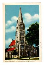 St. Michael's Church, Belleville, Ontario, Canada Postcard - 1954