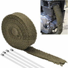 5M Cable Pipe Tape Wrap Roll Exhaust Heat Manifold Header Fiberglas+  4 Ties Kit