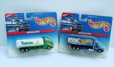 Hot Wheels 1996 (2) McDonald's Haulers (a) Tropicana (b) Hot Wheels Racing