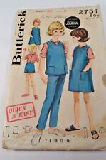 1960 Butterick Sewing Pattern 2757 Child's Girl's 12 Pc Quick N Easy Sportswear