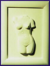 Z2026 Gießform für Reliefgießen  mit Gips/Keramin Torso  Frau 29 x 23 cm