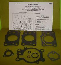 REBUILD KIT GM TBI THROTTLE BODY GEO TRACKER SUZUKI SIDEKICK 89-91 SAMURAI 90-91