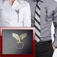 Owl WLOWLKR Pewter Pin Brooch Drop Hoop Holder Glasses,Pen,Jewellery