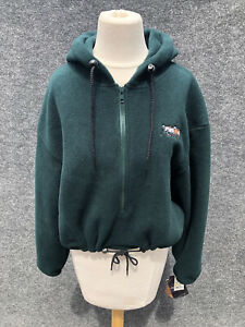 MILLER'S Sportific NWT Polartec Fleece Hood Zip Front Pullover Riding Jacket M