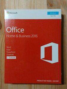 Microsoft Office Home & Business 2016 Software for Windows T5D-02776 Full Retail