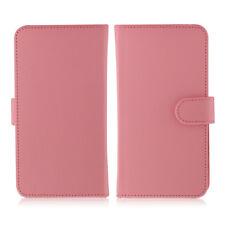 Etui  portefeuille universel en cuir rose pour  smartphone Apple iPhone X