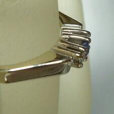 ANILLO DE ORO EN 585 / 14k Oro Blanco Zafiro Anillo De Diamantes 53 (16,8 mm Ø )