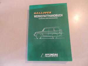 Werkstatthandbuch Hyundai Galloper 1998 Band Chassis und Karosserie