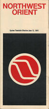 Northwest Orient Airlines system timetable 6/12/81 [308NW] Buy 4+ save 25%