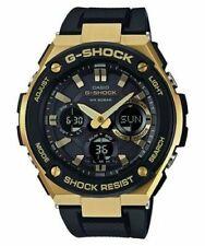 Casio Men's G-Steel Tough Solar Resin Band Gold 200m Watch GSTS100G-1A