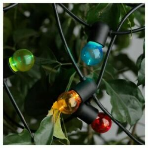 IKEA Christmas LED String Fairy lights 24 colourful lights, 6.9 m indoor/outdoor