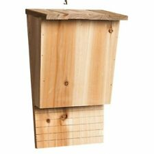 Evergreen Natural Wood Outdoor Safe Single Chamber Bat House - Natural Pesticid