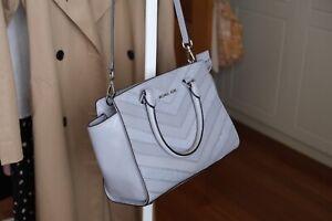 Michael Kors Shoulder Bag w/ Top Handle - Medium Size, Light Purple-Grey
