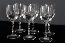 6 verres à vin blanc porto  en cristal d'arques modèle Epi fleury