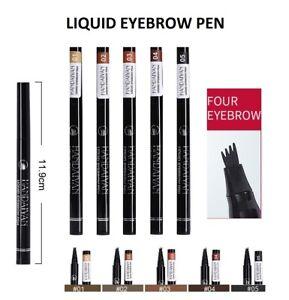 ✅Microblading Tattoo Eyebrow 3D Liquid Ink Pen waterproof 4 Fork Pencil Brow UK✅