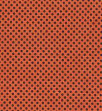 "ORANGE+BLACK DOTS Cotton Linen Fabric Quilting-Crafts-Dolls 44""w COSTUMES BTHFY"