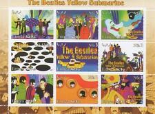 The Beatles Yellow Submarine John Lennon Paul Mccartney 2003 estampillada sin montar o nunca montada SELLO Sheetlet