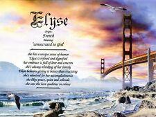 Golden Gate Bridge Name Meaning Prints Personalized (San Francisco)