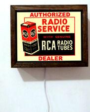 RCA Radio Tube Dealer Service Repair Light Lighted Sign