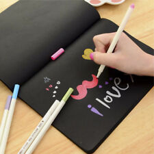 1X black Notebook Diary Black Paper Notepad Sketch Graffiti Notebook for Drawing