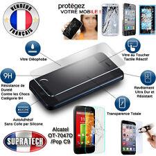 Protection Ecran en Verre Trempé Contre les Chocs pour Alcatel One Touch Pop C9