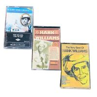 Hank Williams 3 Cassette Lot: 20 Greatest Hits, I Saw The Light, Very Best Of