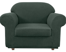 Chair Slipcovers 2 Piece Armchair Cover Chair Covers for Living Room- Grey Green