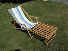 vintage Transat Chilienne Chaise Longue Plage folding deck chairs deckchair old