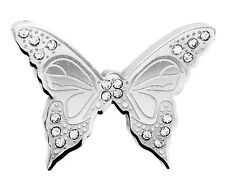 Womens Stainless Steel Butterfly CZ Charm Animal Girls Lovely Pendant Ladies