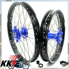1.6*21 & 2.15*18 KKE  WHEEL SET FOR YAMAHA WR250F WR450F 2003-2018 BLUE HUB