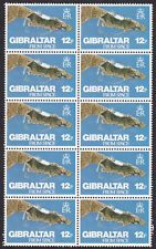 (20490) Gibraltar MNH Gibraltar from Space 12p Block of 10 1978 unmounted mint