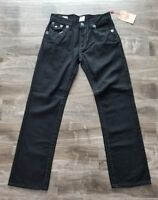 SALE* TRUE RELIGION Ricky Straight Legged Grey Stitch Super T Jeans Size 40 $319