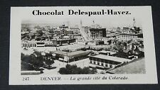 PHOTO CHOCOLAT DELESPAUL-HAVEZ 1950 ETATS UNIS USA DENVERS COLORADO