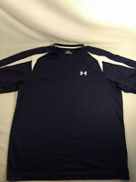 Under Armour Heat Gear Men's X-Large Fitted Black Shirt Jersey Short Sleeve