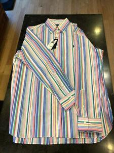 "Ralph Lauren Rainbow ""Classics"" Button Down LS Dress Shirt Size L NWT"