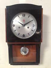antico orologio a pendolo meccanico da parete  cassa  in legno