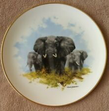 Wedgwood Spink - David Shepherd - Wildlife Collection Display Plate - ELEPHANT