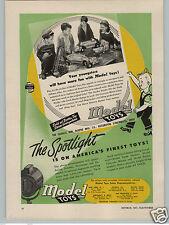 1947 PAPER AD Doepke Model Toy Toys Earth Hauler Concrete Mixer Bucket Loader