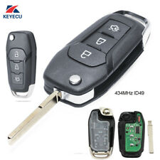 Folding Remote Key Fob 3Button 434MHz ID49 for Ford Escort, New Mondeo 2014-2017